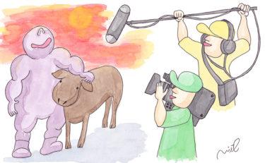 「第三章 女性牛飼いの章⑮」~テレビ取材~